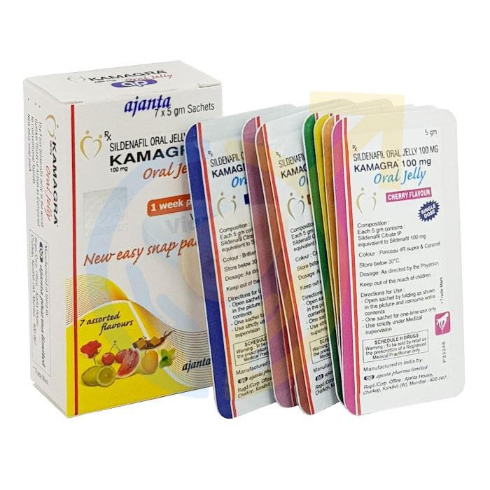 Kamagra Oral Jelly, Week Pack Kamagra 100mg Oral Jelly