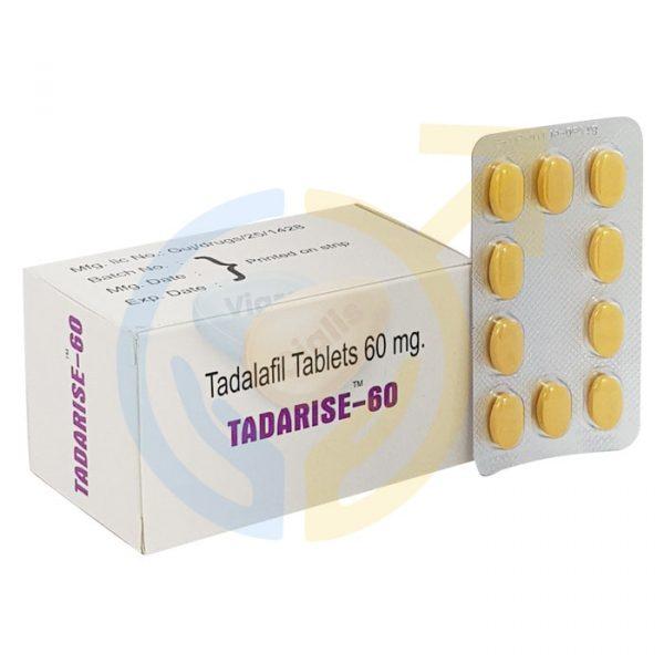 Tadarise 60 | Erectile Dysfunction Pills | Tadalafil 60mg