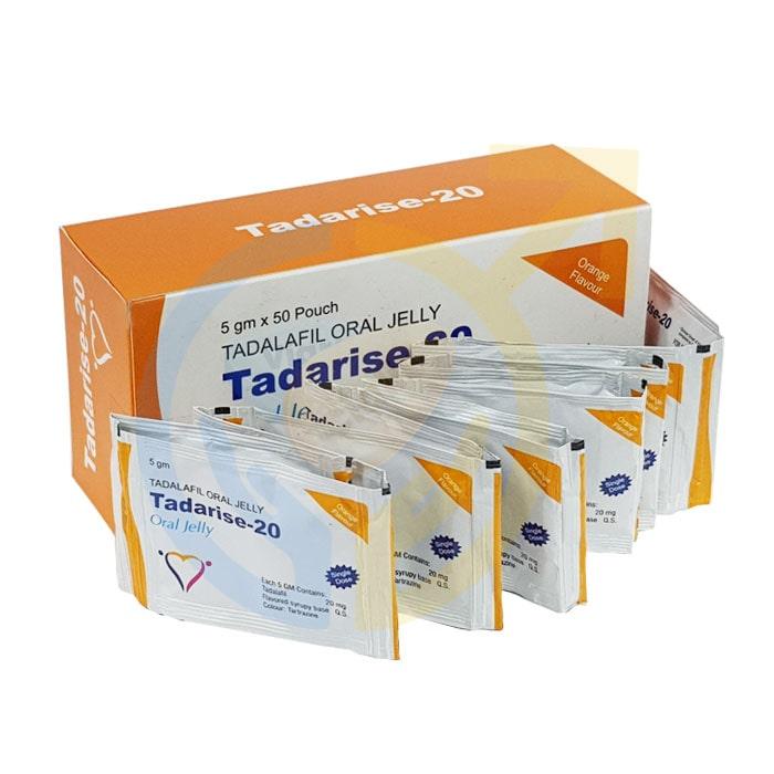 Tadarise Oral Jelly | Tadalafil 20 mg oral jelly | ED pills