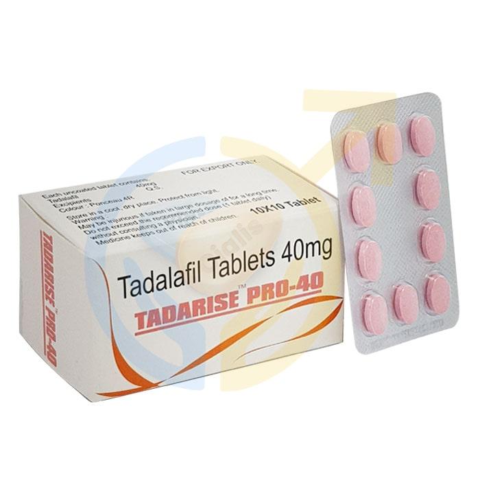 Tadarise Pro 40 mg | Tadalafil pro 40mg